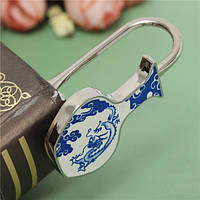 Китайский элемент стиля синий и белый фарфор металлические закладки творческий подарок