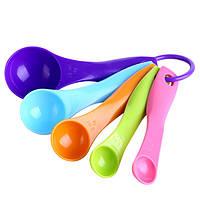 5шт красочные мерные ложки кухонный гарнитур инструмент посуда крем кулинария выпечка инструмент
