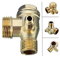 90 градусов Латунь медь мужской резьбовых проверить клапан соединитель инструмент для воздушных компрессоров, фото 2