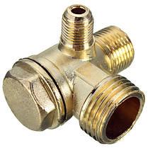 90 градусов Латунь медь мужской резьбовых проверить клапан соединитель инструмент для воздушных компрессоров, фото 3