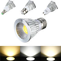 E27 / GU10 / E14 / B22 6W COB LED Светящиеся лампочки с подсветкой Light Light AC 85V-265V