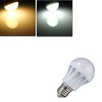 E27 5w 360lm 18 smd 2835 теплый белый/белый глобус энергосберегающие лампы 110v