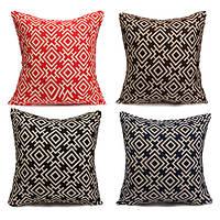Двусторонняя печать геометрической хлопка белье наволочки домой диван бросок Чехлы