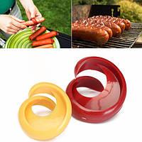 2шт спираль хот-дог резец срезы фантазии колбаса резец среза кухне гаджет
