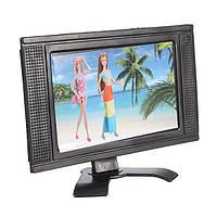 Пластиковая игрушка с плоским экраном мебель для кукольного домика съемная ЖК-телевизор televi
