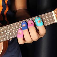 4 в 1 гитара пальца пленки силиконовые палец охранников для укулеле