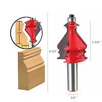 1/2 дюйма круглый хвостовик карбида маршрутизатор бит фрезерный резец гравировальный инструмент