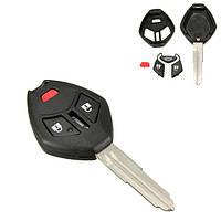 3 кнопка автомобиль удаленного ключевых случае оболочка жилья ФОБ w лезвие для mitsubishi outlander