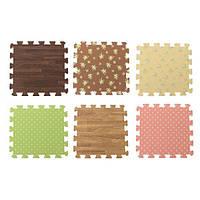 9 шт блокировки пена этаж головоломки работы тренажерный зал мат 6 шаблон легко очистить клей деревянный пол