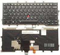 Клавиатура для ноутбука LENOVO (ThinkPad: X1 Yoga) rus, black, подсветка клавиш