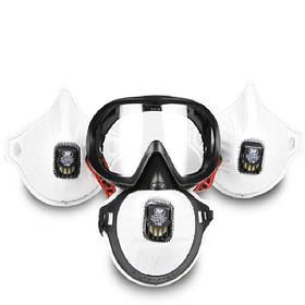 PM2.5 Анти Противотуманные и пылевые защитные маски и очки для JSP 1TopShop