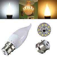 B22 3w белый теплый белый LED свеча пламя люстра лампа ac 220v