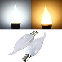 B15 3w белый теплый белый LED свеча пламя люстра лампа ac 220v