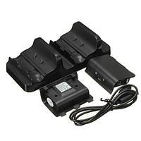 Dual USB зарядки контроллеры док зарядное устройство с батареями для х One