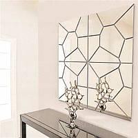 7pcs 20 см diy геометрии зеркало стены стикер съемных шаблон Термоаппликации mural арт декор дома