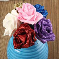 6 цветов искусственные Роуз моделирования цветы ручной пены diy букетом роз