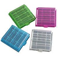 1шт пластиковой коробке случай для хранения 4x14500 / аа литий-ионный аккумулятор