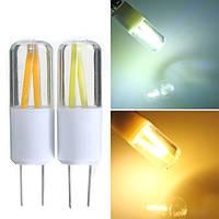 G4 1.5W COB Filament LED Spotlightt Bulb Лампа Теплый/чистый белый AC/DC 12V