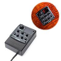Херувим г-тон 3-полосный эквалайзер EQ акустической гитары предусилителя пикап тюнер