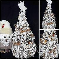Эксклюзив! Дизайнерская елку из натуральных материалов с корицей, выс.50 см., 390/350 (цена за 1 шт. + 40 гр.)