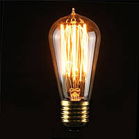 E27 st58 40w старинные антикварные Эдисон стиль углерода накаливания ясно стеклянная колба 220-240v