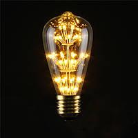 E27 st64 3w старинные антикварные Эдисон стиль углерода накаливания ясно стеклянная колба 220-240v