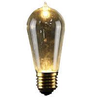 E27 st58 5w старинные антикварные Эдисон стиль углерода накаливания ясно стеклянная колба 220-240v