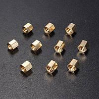 50шт м3 4/6/12/20мм двойной проход полый шестигранник медный наконечник цилиндра пиллер