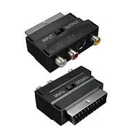 RGB на скарт мужской до 3 RCA гнездо s-видео AV ТВ аудио конвертер кабель-адаптер