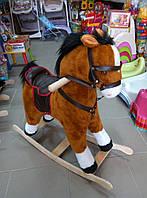 Лошадка качалка коричневая 65*60*35 см