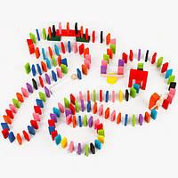 120шт деревянный цвет микс акробатика домино игры дети играют в игрушки