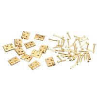 12xмини металлические петли с шурупами для Барби кукольный домик 1/12 мебели
