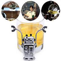 Нержавеющая сталь робота листьев чая ситечко для заварки чая фильтр инструментов с лотком