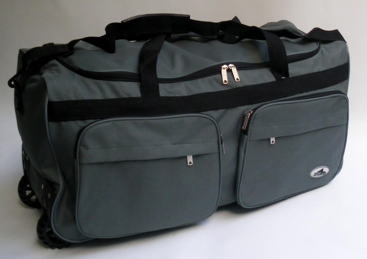 c2ff0b34ea06 Дорожная - спортивная сумка на колесах Rhino - серая 54 л: продажа ...
