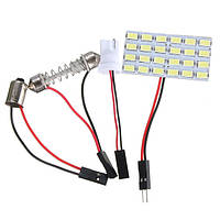 Несколько Коннектор 24SMD 5730 LED Панельная доска Авто Внутренняя Лампа Свет для чтения