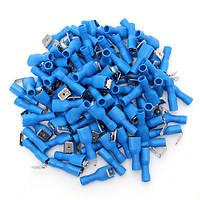 100шт 16-14awg изолированные синий Копилка обратно разъем обжимной электрические клеммы для сращивания