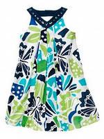 Платье-сарафан Gymboree Восточный для девочек синий 5 лет (110-116 см)