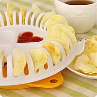Кухня микроволновка яблоко картофель хрустящий овощ чип среза приготовления