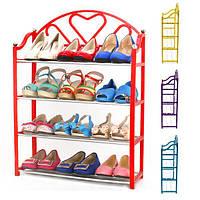 4 уровня стека обувь отображения хранения Организатор стойки стенд полки держатель блок полки