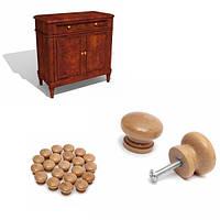 20шт деревянные ручки двери шкаф Шкаф ящик тянуть обработки оборудования
