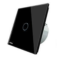 Livolo черный стекло сенсорная панель стандарт ЕС переключатель промежуточный вл-c701s-12