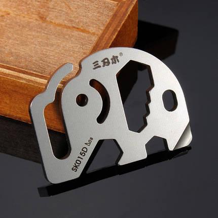 Sanrenmu SK015D Mini Metal Многофункциональная портативная ключевая цепочка ключей Набор, фото 2