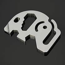 Sanrenmu SK015D Mini Metal Многофункциональная портативная ключевая цепочка ключей Набор, фото 3