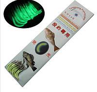 ZANLURE Luminous рыболовный крючок с лески одноместного рыболовный крючок 13 Размеры