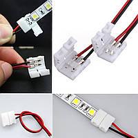 10xновый 2-контактный разъем для светодиодной ленты провод с PCB ленты 3528/5050