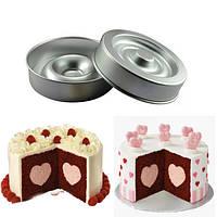 Сердце форму слой торт Пан плесени торт кастрюли алюминиевые