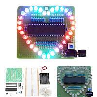 DIY красочные форме сердца LED мигающий комплект