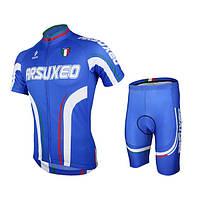 Arsuxeo мужские Велоспорт короткий рукав горный велосипед Джерси велосипед наборы Велоспорт костюм