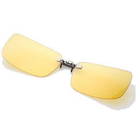 Поляризованный клип на солнцезащитные очки Солнцезащитные очки для вождения ночного видения Объектив для пластиковой рамки Очки