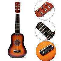 21 дюймов акустическая практика укулеле 6 струна гитары мини игрушки для детей